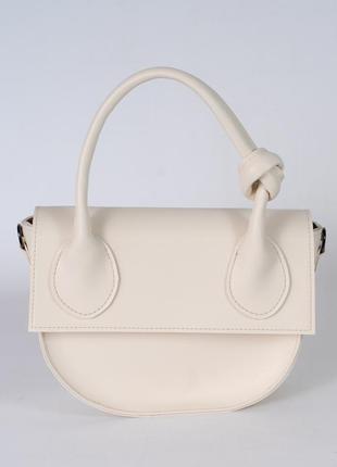 Бежевая маленькая сумочка клатч с ручкой через плечо мини сумка модная красивая