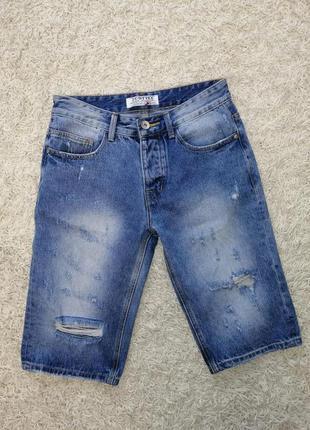Шикарные мужские рваные шорты 28 (42) в новом состоянии