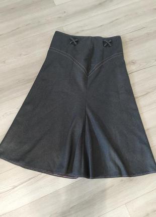 Шерстяная юбка макси cream