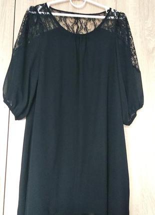 Красивая шифоновая туника туніка блуза блузка блузон размер 48-50