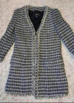 Пиджак жакет блейзер твидовый шерстяной