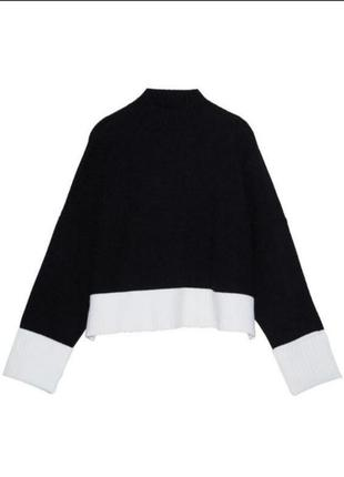 ❤️шикарный свитер ддемпер кофта zara оригинал оверсайз укороченый