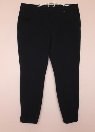 Очень качественные хлопковые классические тёмно синие брюки, штаны 50-52 р.