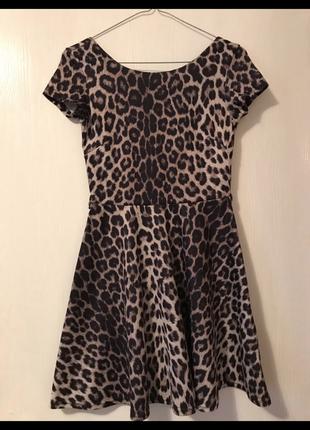 Платье с леопардовым принтом river island