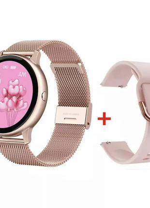 Смарт часы с дополнительным ремешком в подарок smartwatch умные часы фитнес трекер