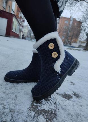 Женские зимние демисезонные ботинки сапоги бурки угги валенки