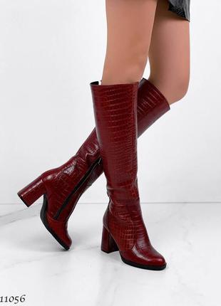 Демисезонные сапожки =na= цвет: dark red, натуральная кожа италия