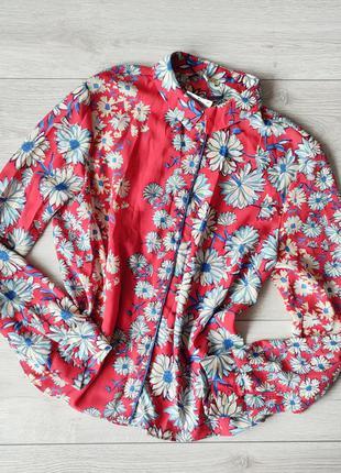 Блузка рубашка цветочный принт