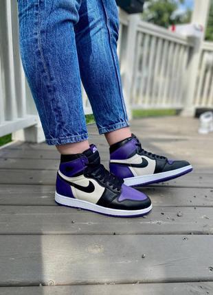 Nike air jordan retro 1 violet кроссовки найк аир джордан наложенный платёж купить
