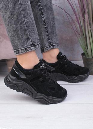 Жіночі чорні кросівки