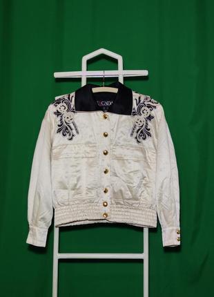 Винтажная куртка пиджак escada by margaretha ley