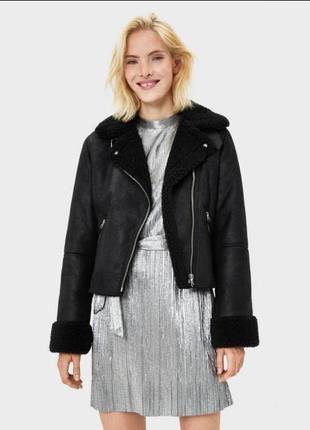 Куртка-дубленка bershka