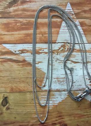 Цепь ожерелье цвет серебро ретро