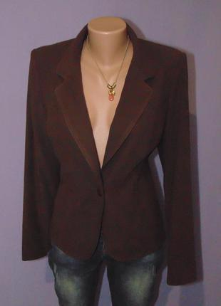 Новый шоколадный пиджак под замшу 14 размера