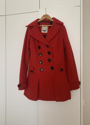 Пальто reserved жіноче полупальто червоне коротке