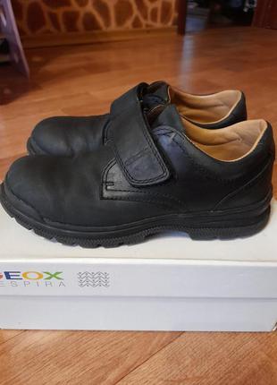 Кожанные туфли на мальчика
