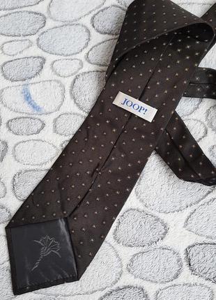 Шёлковый коричневый галстук  joop