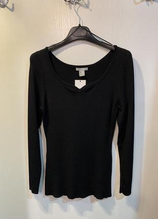 Женская чёрная кофта h&m, размер l.