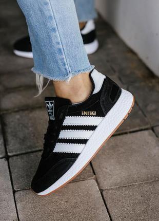 Кроссовки adidas iniki black/white кросівки