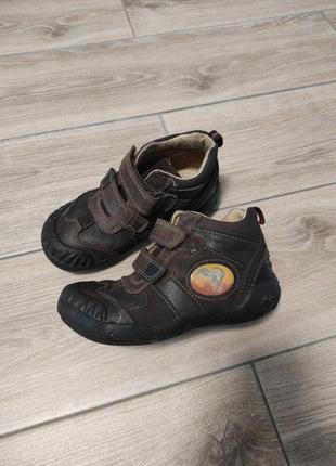 Кожаные ботинки полуботинки ботиночки