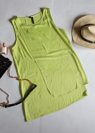 Mango сатинова лаймова сукня вільного крою