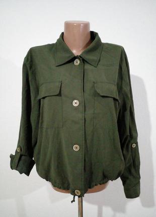 Красивая легкая курточка бомбер на подкладе