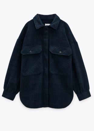 Плотная рубашка/пальто оверсайз zara