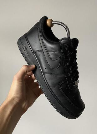Лучший осенний вариант nike air force 1 low black кроссовки