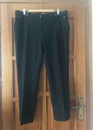 Классные практичные брюки в мелкую клетку( на подкладке)пот 49