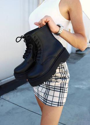 Ботинки черевики dr. martens jadon total black