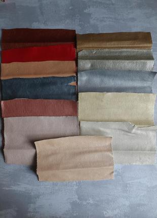 Набор отрезов ткани под кожу. для творчества. рукоделие. кожзам
