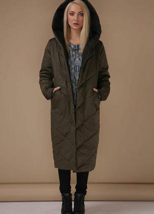 Двухсторонняя зимняя куртка пуховик одеяло с капюшоном зефирка дизайнерская эксклюзив