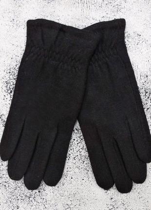"""Мужские перчатки """"wool"""" черные"""