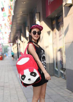 Стильный большой тканевый рюкзак панда