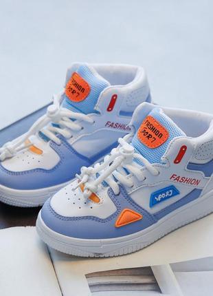 Яркие стильные кеды кроссовки хайтопы для деток (маломер)