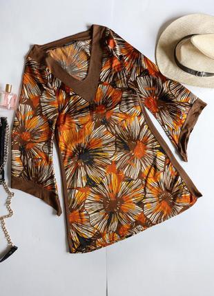Paper sun шовкова комбінована сукня з широкими рукавами кімоно з поясом