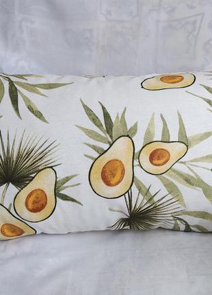 Подушка с авокадо 28*45 см