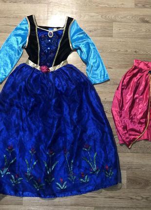 Платье анна холодное сердце и накидка на 11-12 лет