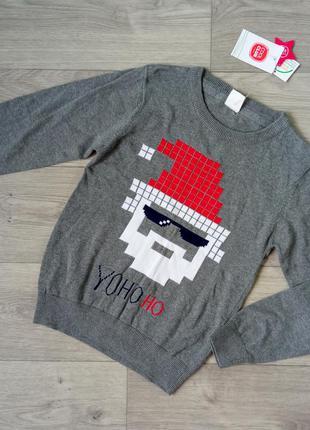 Новогодний свитер свитерок джемпер cool club 134