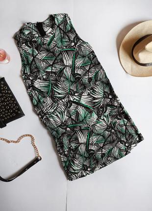Mango віскозна сукня принт листя пальми