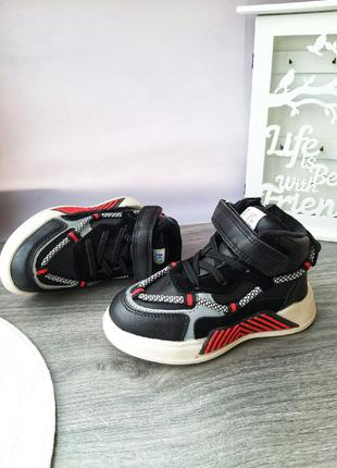 Стильные кроссовки хайтопы для мальчика