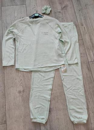 Домашний трикотажный костюм пижама primark 146 см