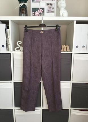 Комфортные брюки на удобном поясе зауженные к низу размер 14-xl