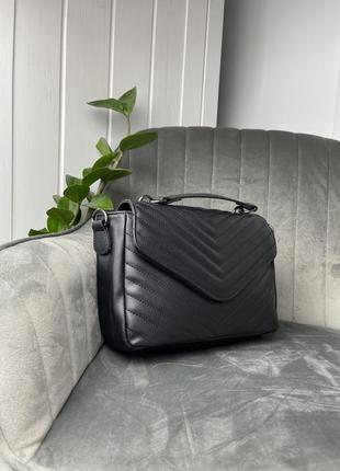Трендовая стеганная прошитая сумка, сумочка, тренд