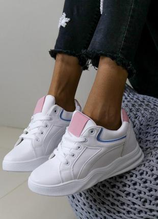 Кроссовки,сникерсы,кроссовки на танкетке,кроссовки на платформе,белые кроссовки,белые сникерсы