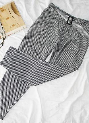 Брюки штаны в гусиную лапку new look