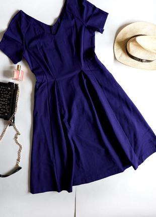 Jasper conran віскозна елегантна темно-синя сукня