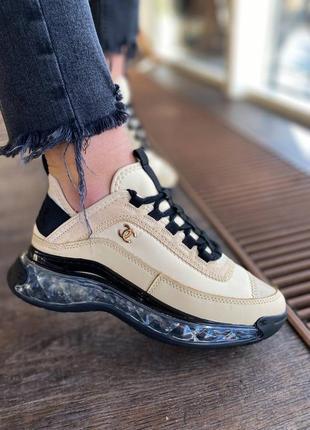 🔥маленький нюанс🔥 скидка🔥 бежевые кроссовки топ качество