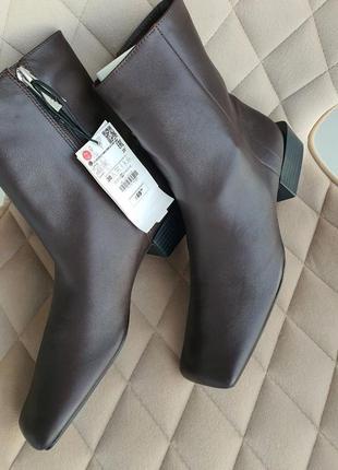 Новые кожаные ботинки zara, 38 и 39 размер