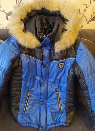 Куртка зима, рост 128,7-8 лет.